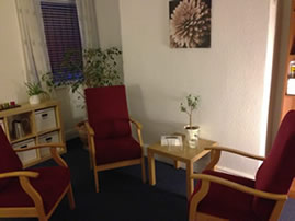 a counselling room, interior of Trafalgar House