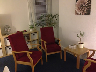 another shot of a counselling room, interior of Trafalgar House